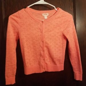 Girls Neon Orange Cardigan